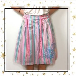 Old Navy Pleated striped flare a-line skirt (C3)